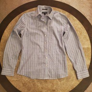 Land's End long sleeve striped shirt no iron